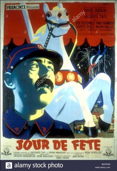 """""""Jour de fête"""" est un long-métrage réalisé par Jacques Tati."""