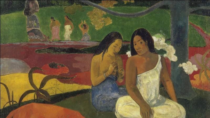 Quel artiste peignait souvent des tahitiennes ?