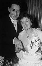 Quelle artiste est le témoin d'Edith en 1952 lors de son mariage avec le chanteur Jacques Pills ?