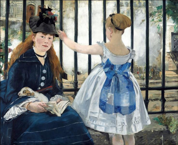 """À quel peintre faut-il attribuer le tableau intitulé """"Le Chemin de fer"""" ?"""