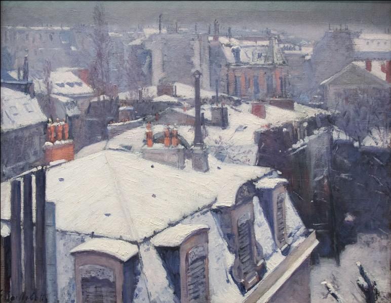 """Qui a peint ce tableau intitulé """"Vue de toits (effets de neige)"""" ?"""