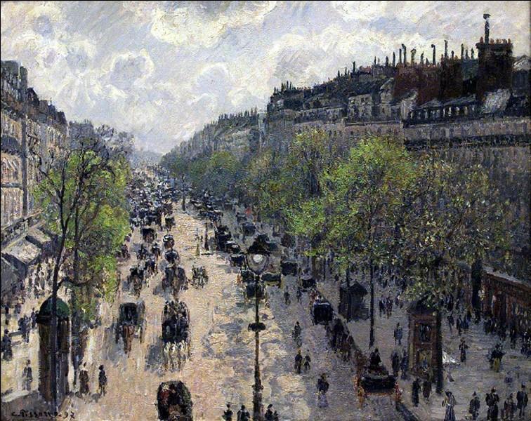 À qui doit-on cette vue d'un grand boulevard de Paris ?