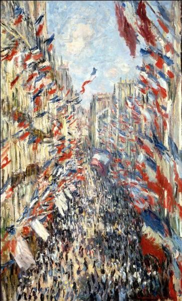 """Qui a peint """"La Rue Montorgueil à Paris. Fête du 30 juin 1878."""" ?"""