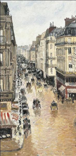 À quel peintre faut-il attribuer cette vue d'une rue de Paris ?