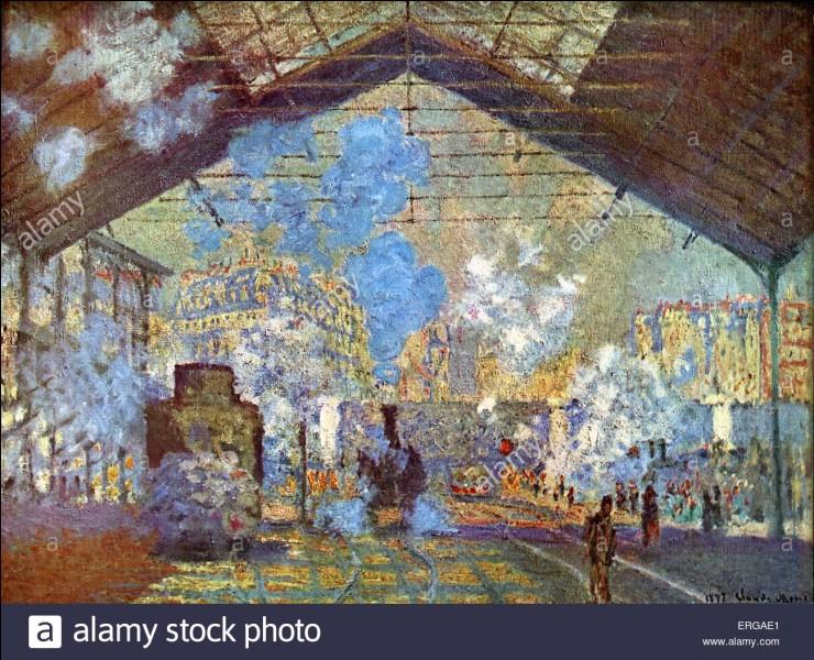 """À qui doit-on ce tableau intitulé """"La Gare Saint-Lazare"""" ?"""