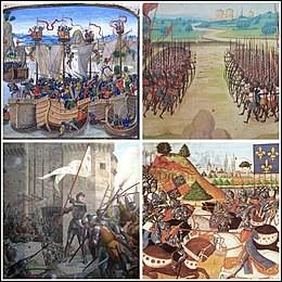Quelle fut la première bataille de la guerre de Cent Ans ?