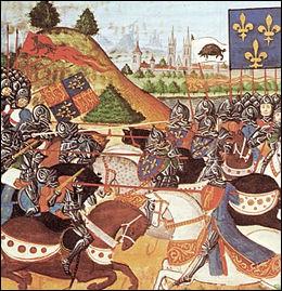 """Quelle bataille de la guerre de Cent Ans est surnommée """"L'Azincourt anglais"""" ?"""