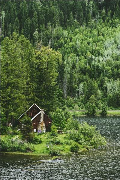 Honnêtement, une grande partie du peuple qui vit ici a des racines de trappeurs ou de coureurs des bois : c'est mon cas et des cabanes comme celle-là, j'en ai vu plusieurs et habité quelques-unes car en fait, il y a plein de lacs vers où ne mène aucune route, ce qui fait que le prix du terrain n'y est pas exorbitant. C'est qu'il faut tout y transporter : quel est le nom de mon pays ?