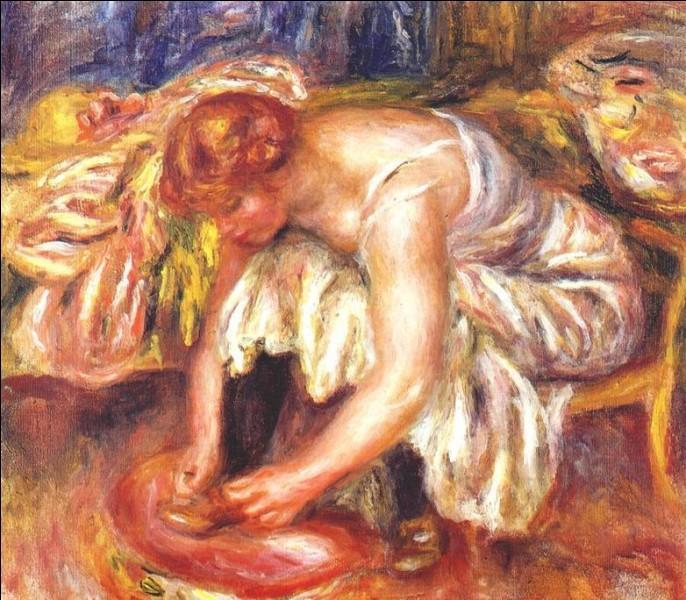 """Qui a peint """"Femme essayant une chaussure"""" ?"""