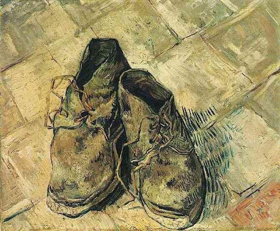Les chaussures en peinture
