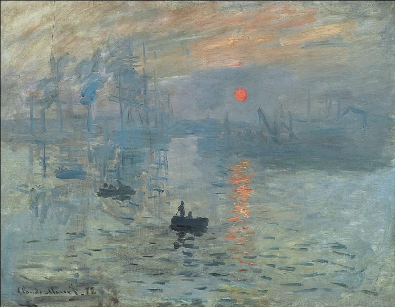 """En quelle année le tableau """"Impression soleil levant"""" de Claude Monet a-t-il été réalisé ?"""