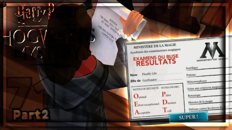 Quels sont les résultats d'Hermione aux BUSES ?