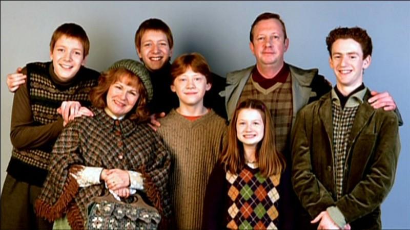 Comment s'appellent les enfants Weasley ? (plusieurs réponses)