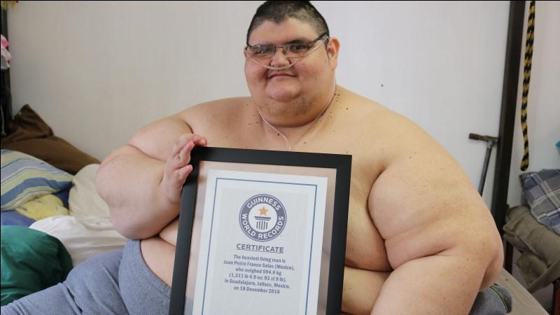 Juan Pedro détenait, en 2017, le record de l'homme le plus gros du monde, 595 kg ! De quelle nationalité est-il ?