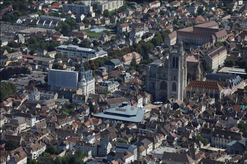 Traversée par l'Yonne et dominée par sa cathédrale du XIIe siècle :