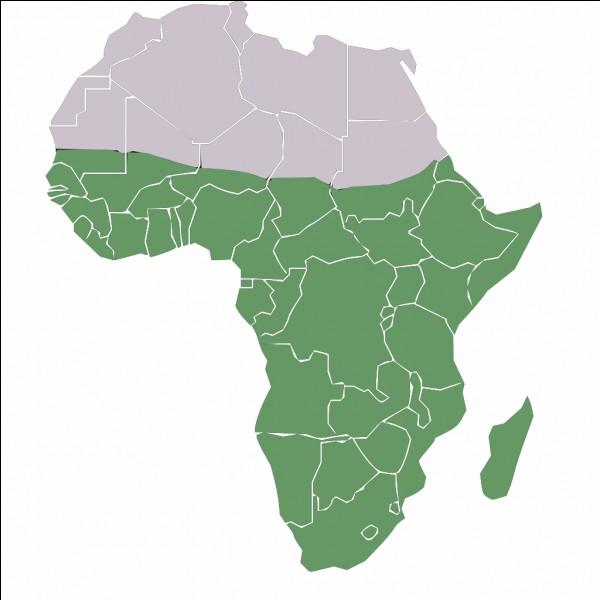 Quelle ville ne se situe pas en Afrique subsaharienne ?(L'Afrique subsaharienne est l'espace en vert sur la carte)