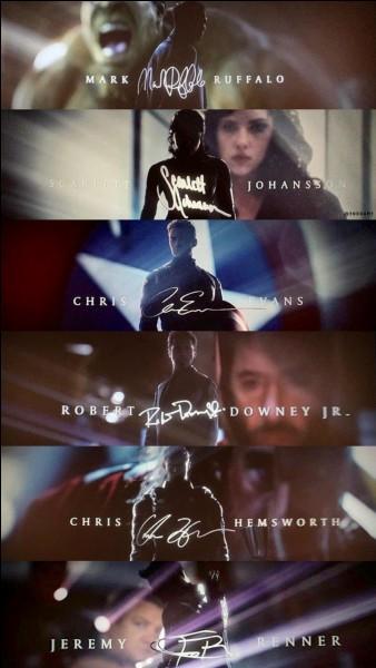 Lors du générique on voit la signature des 6 Avengers originaux. Quelle est la dernière que l'on voit ?