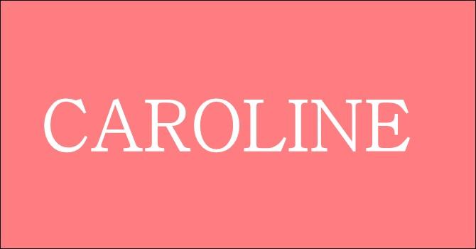 Et une autre petite colle, avec : Caroline !