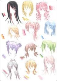 Pour commencer, ta couleur de cheveux préférée dans les mangas est le :