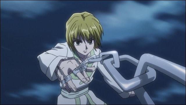 Quel doigt de Kurapika lui permet de soigner ses blessures avec sa chaîne ?