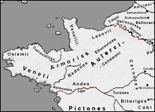 """Dans la BD """"Astérix"""", comment s'appelaient les Gaulois provenant d'Armorique ?"""