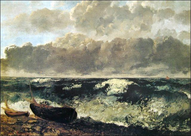 """Qui a peint le tableau, """"Mer orageuse"""", présent ici ?"""