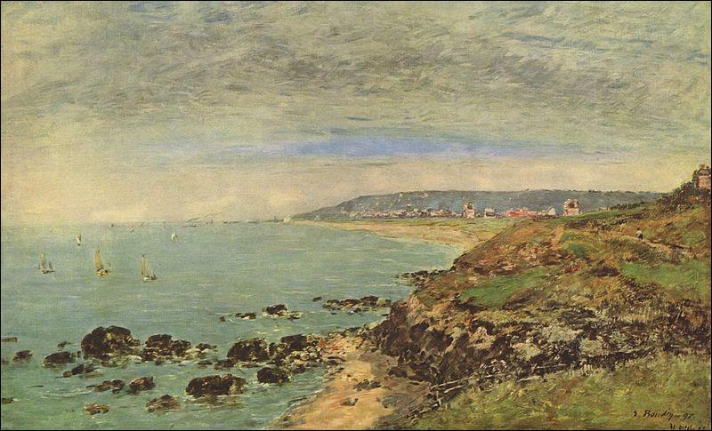 """""""La côte atlantique au Benerville"""" est un tableau français de/d' :"""