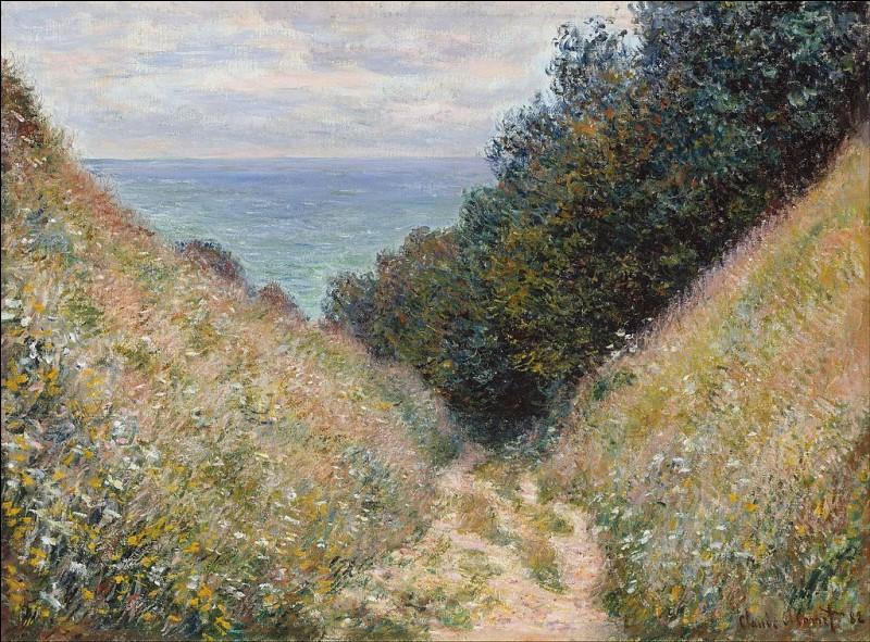 """Qui a peint le tableau """"Route de la cavée à Pourville"""" ?"""
