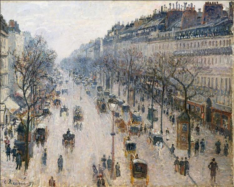 """""""Boulevard Montmartre : matin d'hiver"""" est tableau de/d' :"""