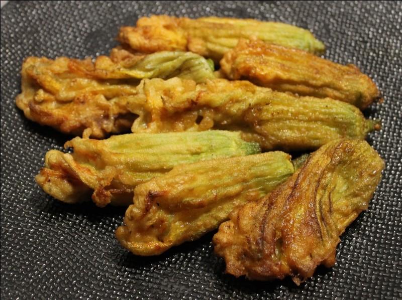"""Complétez ce nom d'un plat de la cuisine provençale : """"beignets … de courgette""""."""