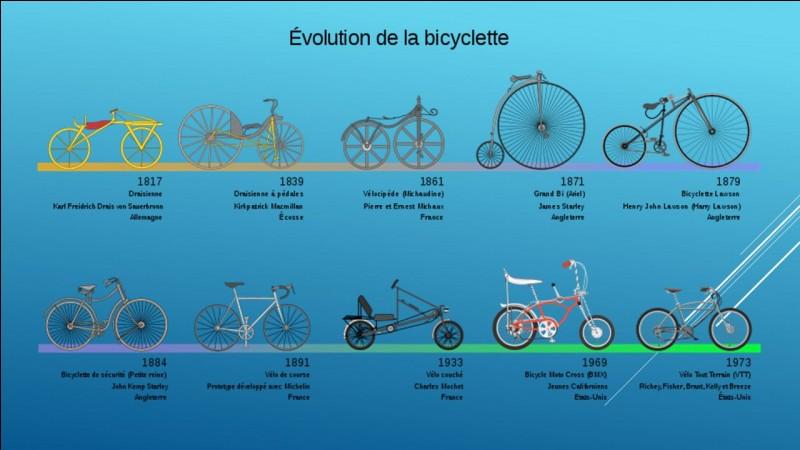 Pour le vélo donne un titre pour une frise chronologique ?