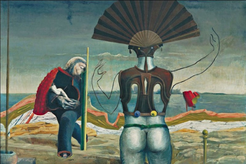Peintre et sculpteur rattaché aux mouvements dadaïste et surréaliste, auteur de ce tableau :