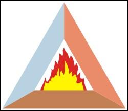 De quoi est composé le triangle du feu ?
