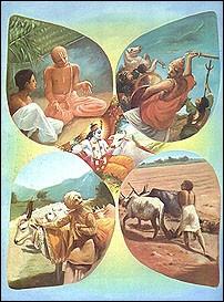 Hindouisme - Chacune des quatre castes de la société indienne :