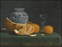 """Qui a peint le tableau """"Nature morte à l'orange ouverte"""" au XIXe siècle ?"""