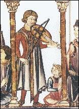 Instrument de musique à cordes frottées et à archet, accompagnant les troubadours et les trouvères :