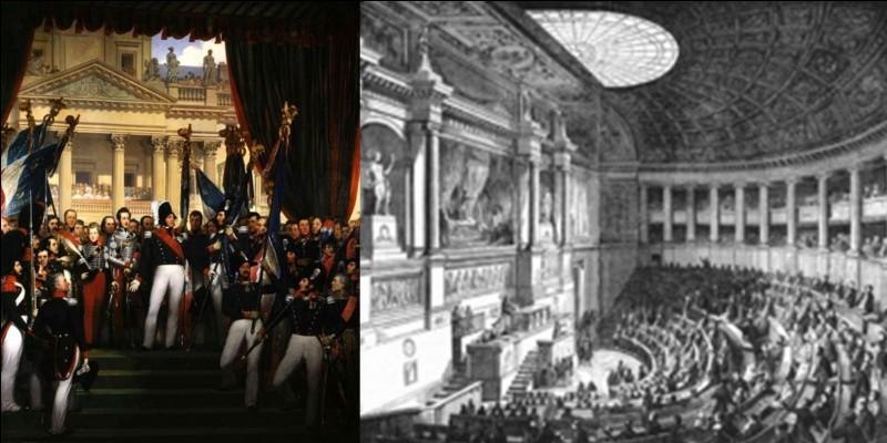 Une autre forme de succession a existé à la fin de la royauté en France. Après la chute de Charles X (1830), Ce ne sont pas la tradition ou les lois fondamentales du royaume qui furent appliquées !Comment a été décidé de l'avènement au trône de Louis-Philippe après la chute de Charles X ?
