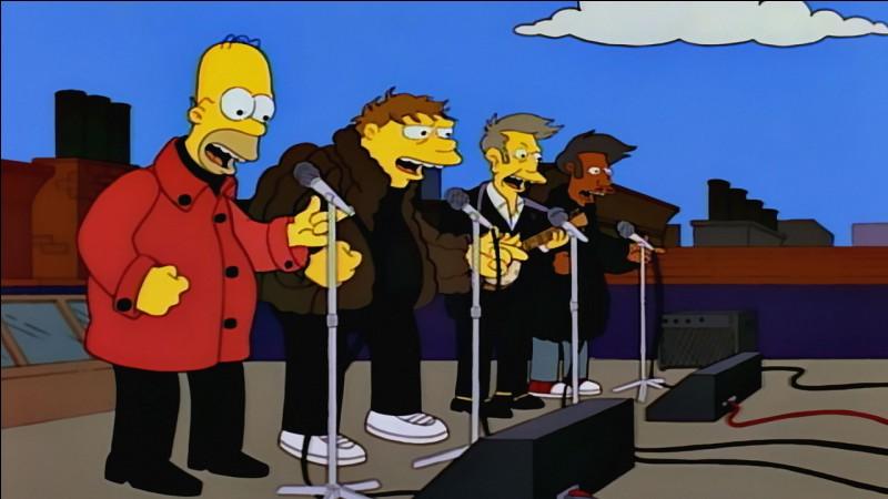Homer a fait partie d'un groupe de musique étant plus jeune. Comment s'appelle ce groupe ?