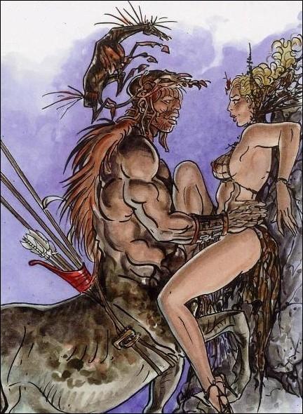 Il s'acharna violemment sur ce centaure lubrique ayant violé sa cousine Alcyonée. Qui est-il ?