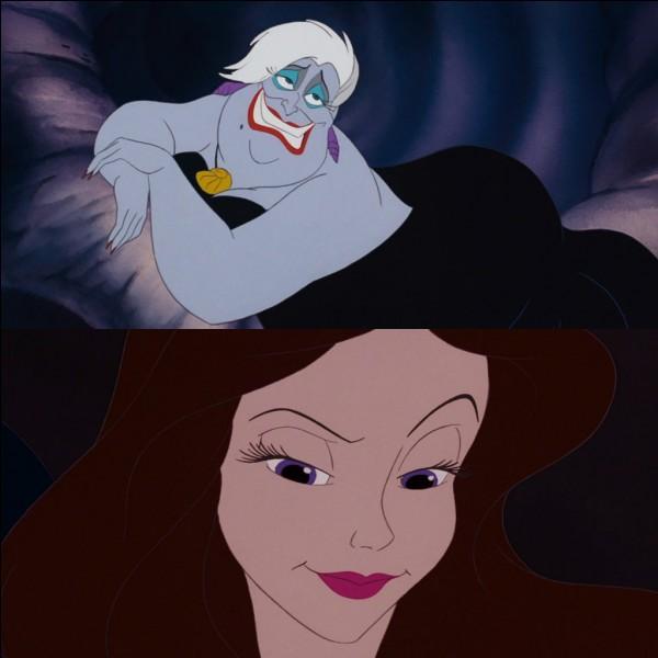 Dans ''La Petite Sirène'', quel pseudonyme Ursula utilise-t-elle quand elle devient humaine ?