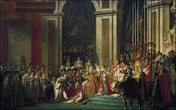 ''Le Sacre de Napoléon'' a une hauteur de 6,21 m sur une longueur de 9,79 m, quel néoclassique a représenté cette scène ?