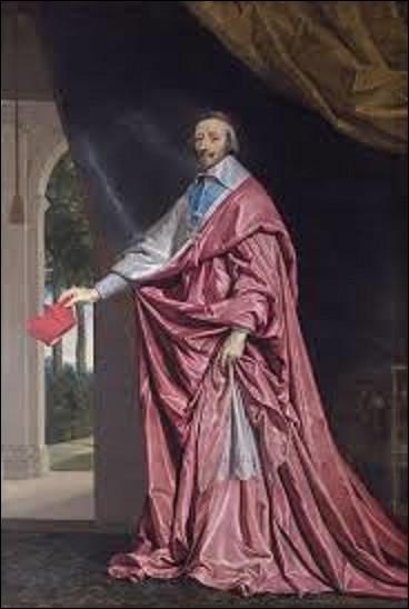 Intitulé ''Le Cardinal de Richelieu'', ce portrait fut peint vers 1637. Quel classiciste a représenté ce religieux principal ministre de Louis XIII ?