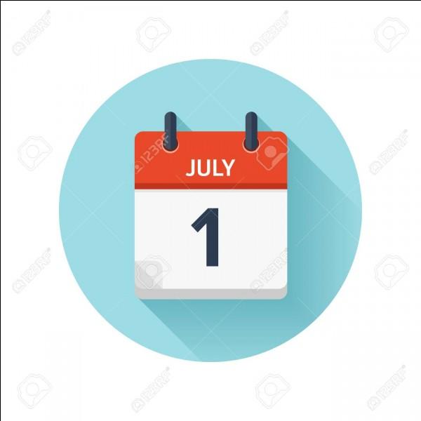 """""""Le premier juillet deux mille dix-neuf tombe un lundi.""""Y a-t-il une ou des conjonction(s) ?"""