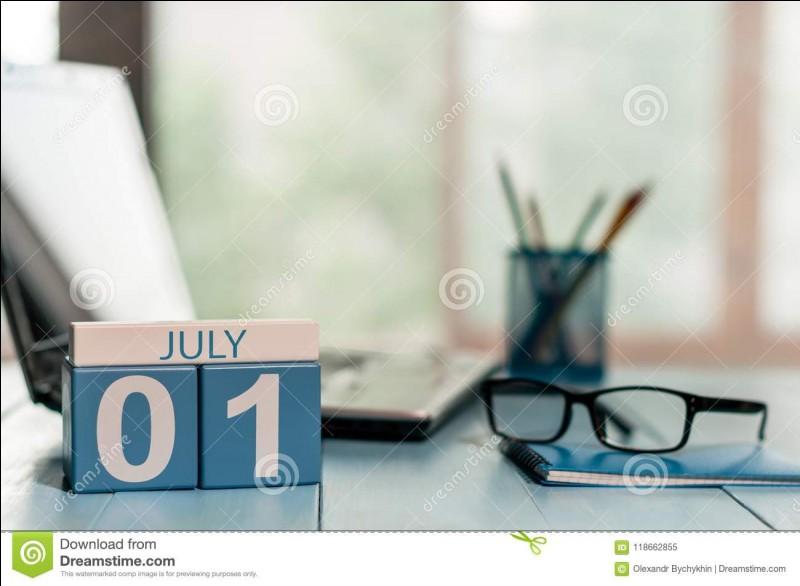 """""""Le premier juillet deux mille dix-neuf tombe un lundi.""""Quel(s) est/sont le(s) verbe(s) ?"""