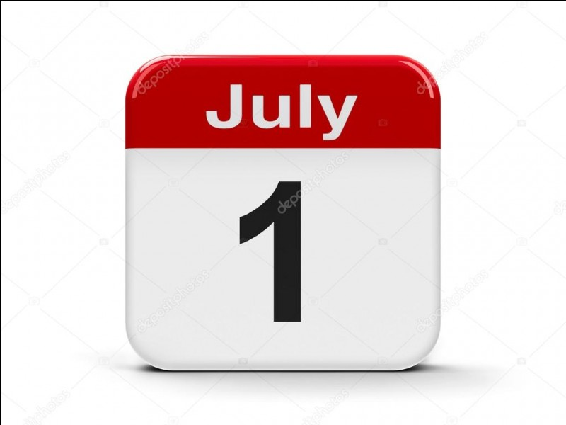 """""""Le premier juillet deux mille dix-neuf tombe un lundi.""""""""juillet"""" est __________."""