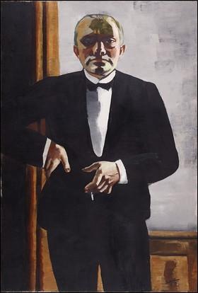 Peintre allemand de la première moitié du XXe, rattaché à l'expressionnisme, c'est ... Beckmann.