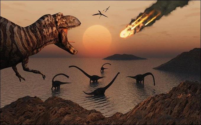 Les dinosaures ont disparu à cause d'une météorite.