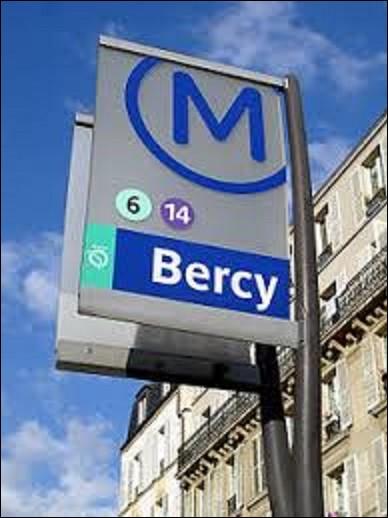 Ouverte le 1er mars 1909, ''Bercy'' est d'abord desservie par la ligne 6, avant que vienne s'ajouter en 1998 la ligne 14. Tirant son nom de la rue et du boulevard qui se situent à l'intersection desquels elle se trouve, on rencontre pour la première fois le nom de Bercy dans une charte datant de 1134, qui était d'abord un lieu-dit. Quel roi régnait sur la France à cette époque ?