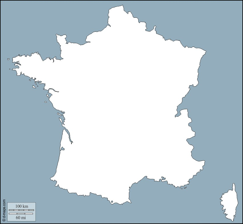 Les contours de nos régions