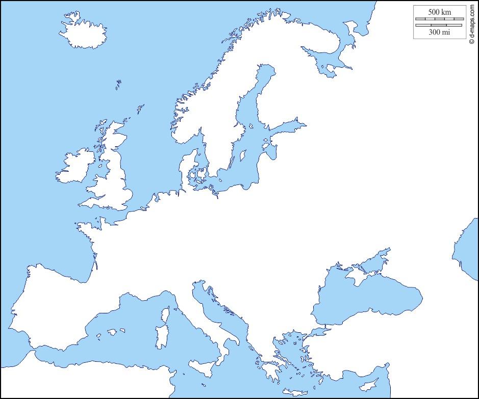 Les contours des régions d'Europe (1)